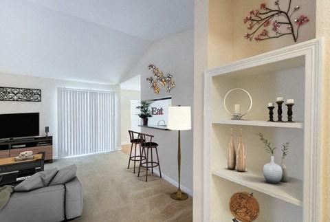 Living Room Built-in Shelving