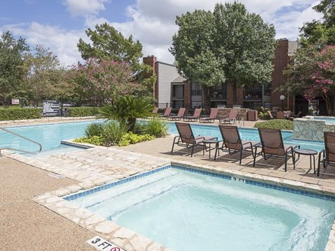 Swimming Pool with Lounge Seating and Wadding Pool