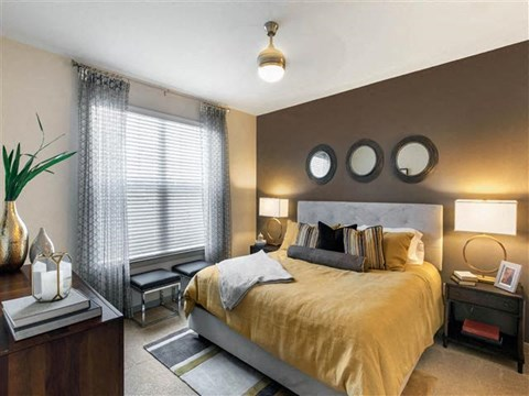 Bedroom with Accent Wall