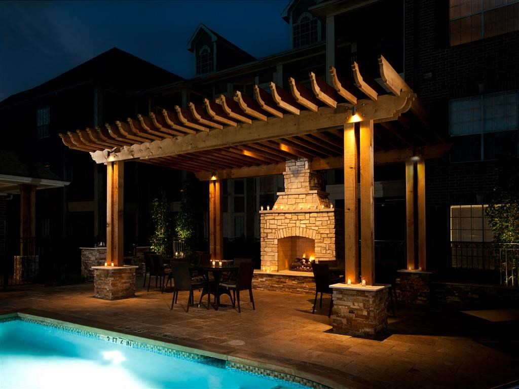 Swimming Pool with Outdoor Fireplace
