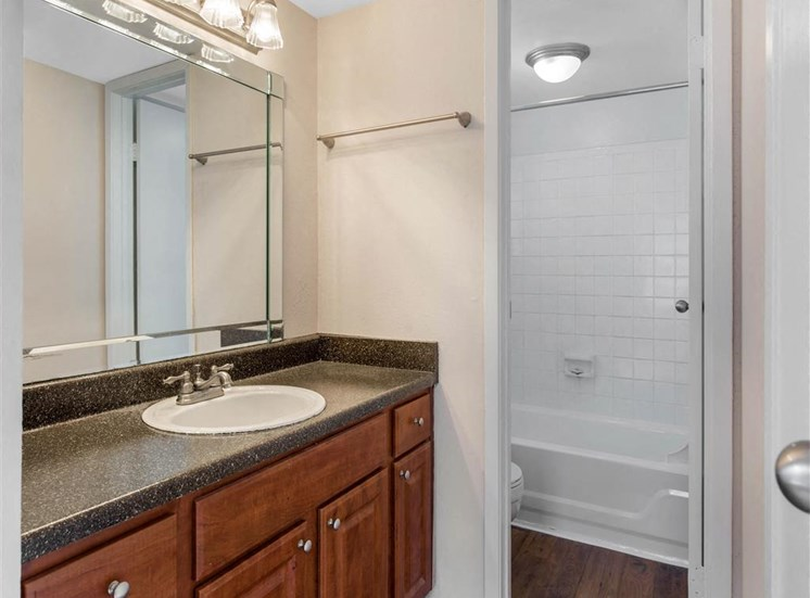 Cimarron Parkway Bathroom with Beveled Mirror
