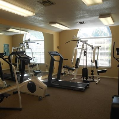 Fitness Center with Exercise Equipment at Las Villas De Leon Apartments, San Antonio