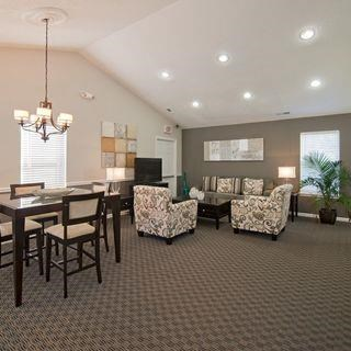 Clubhouse Area With Table Chairs at Soldiers Ridge Apartments, Manassas, VA, 20109
