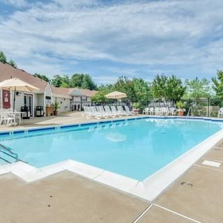 Pool Side Relaxing Area With Sundeck at Soldiers Ridge Apartments, Manassas