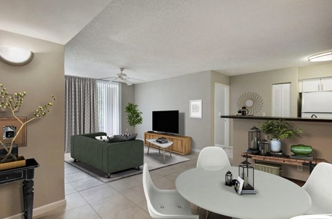 St. Andrews at Winston Park Apartments |  Dining Room with Tile Flooring