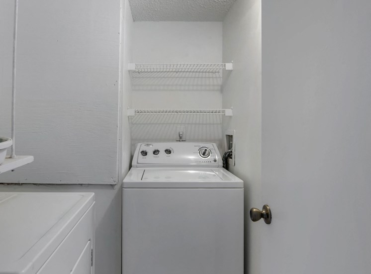 Utility Closet with Full Size Washer and Dryer