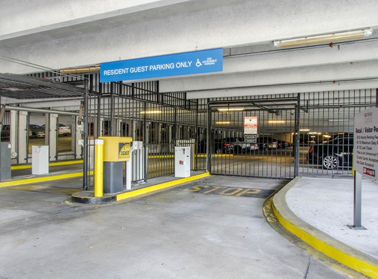 Covered Parking Garage with Gate