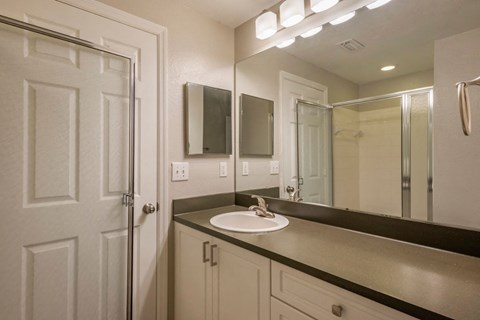 Bathroom Vanity  with Grey Counters