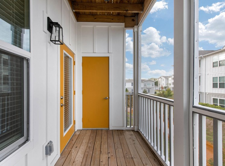 Capital Crest Private Balcony with storage door