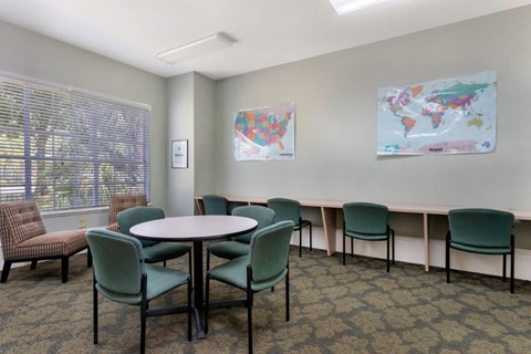 Worthington Apartment Recreation Room with tables and chairs for flexible activities