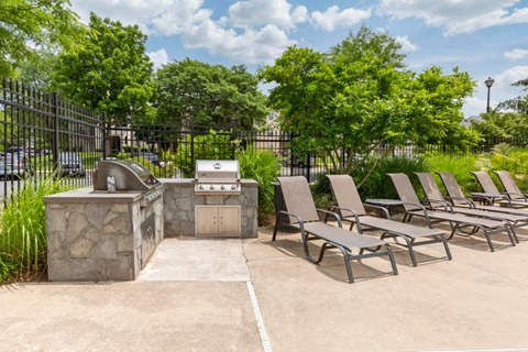 Saybrook| grilling station with lounge seating