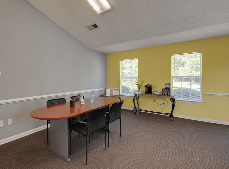 Small Conference Table and Chairs at King's Ridge Apartments, Virginia