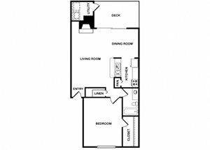 One Bedroom One Bathroom Floor Plan 821 Square Feet