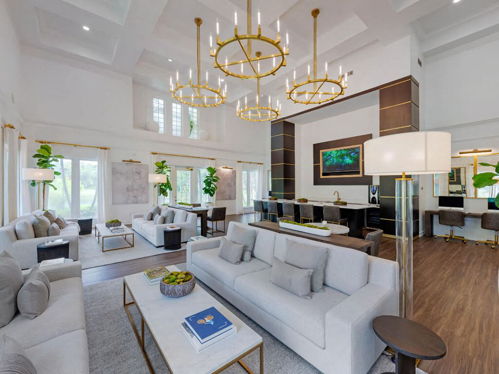 The Preserve at Deer Creek Apartments | Clubhouse Interior and Social Area