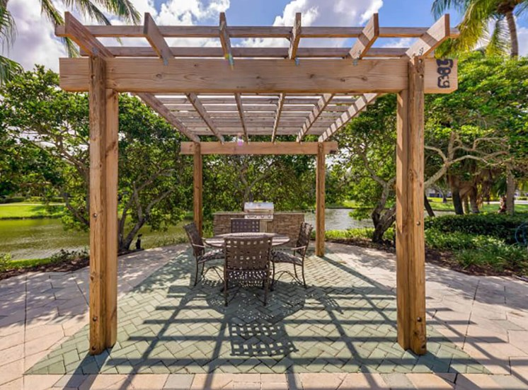 Summer Kitchen with Grill and Picnic Area with Pergola