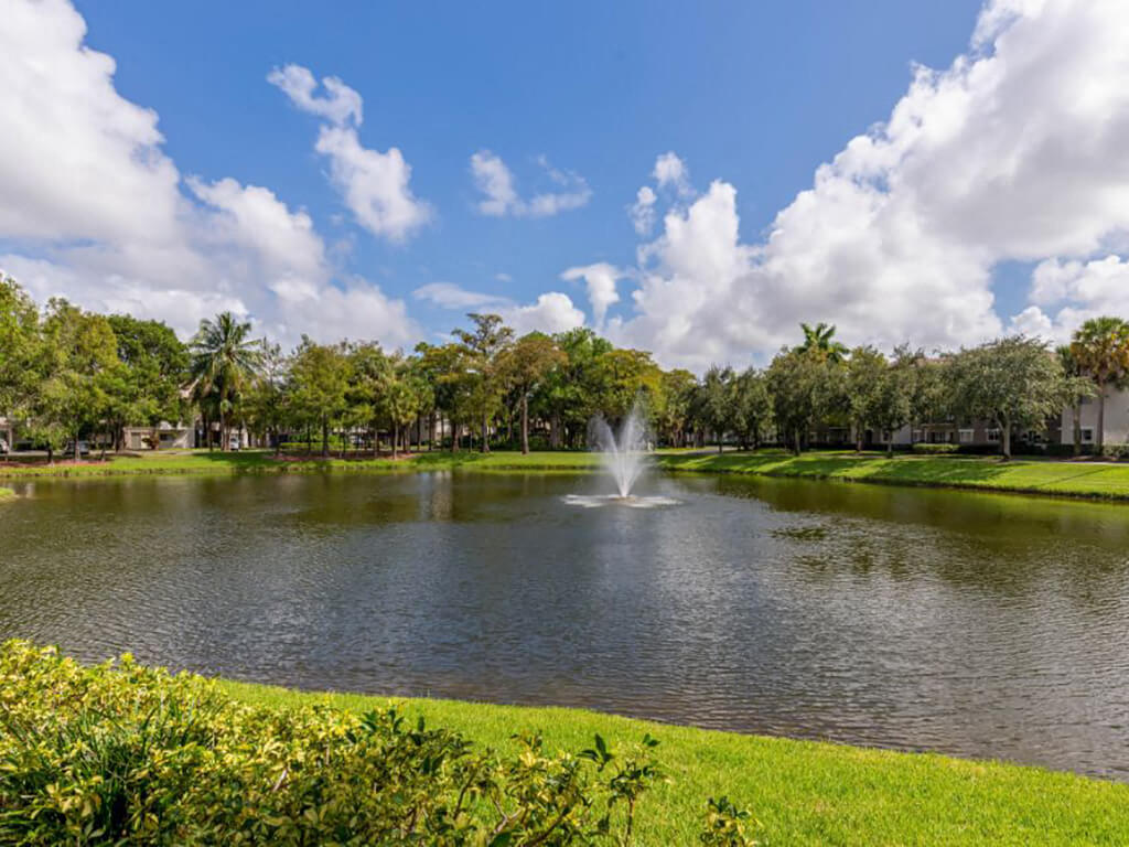 The Preserve at Deer Creek Apartments | Fountain View with Landscaping