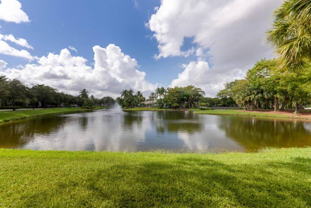 The Preserve at Deer Creek Apartments | Lake View with Landscaping