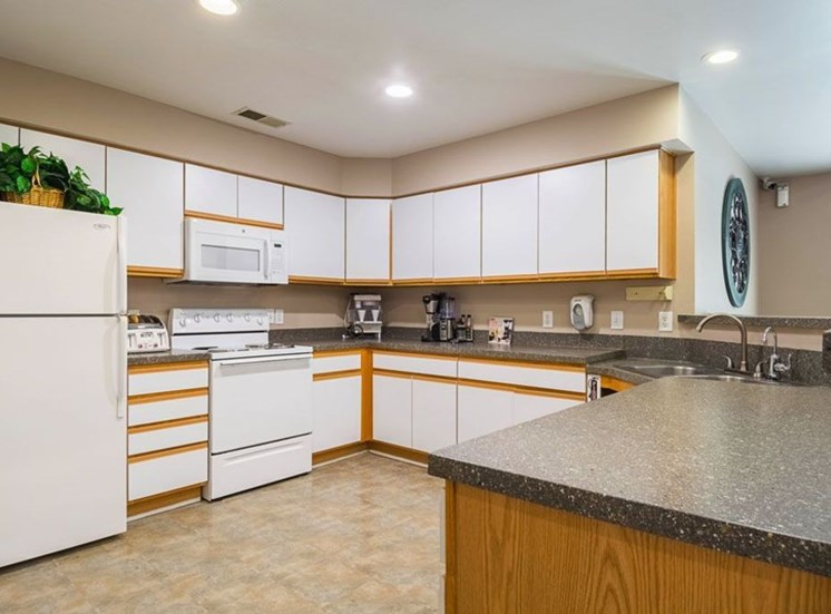 Clubhouse Kitchen With Refrigerator at Autumn Wind Apartments, Virginia, 22603