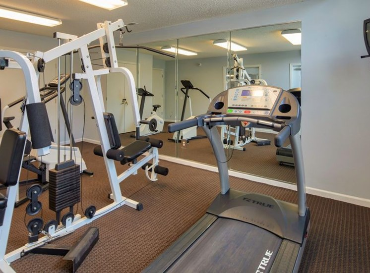 Fitness Center with Exercise Equipment at Bridgeport Apartments, Hampton, VA, 23663