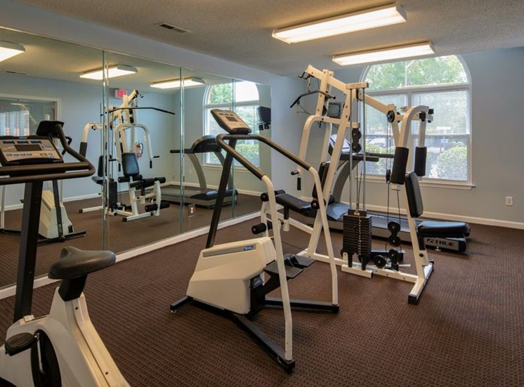 Fitness Center With Updated Equipment at Bridgeport Apartments, Virginia, 23663