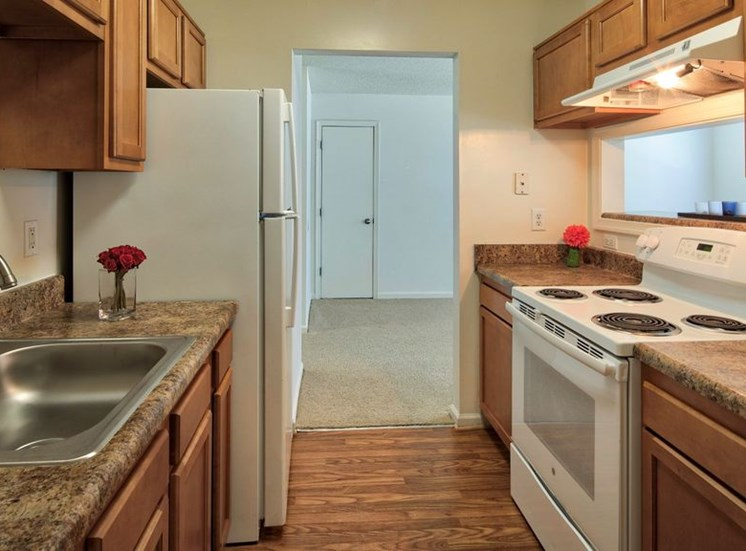 Kitchen Designed With Ample Storage Space at Bridgeport Apartments, Hampton, 23663