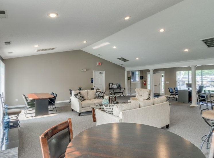 Clubhouse With Ample Sitting at Crestview Apartments, Fredericksburg, VA, 22401