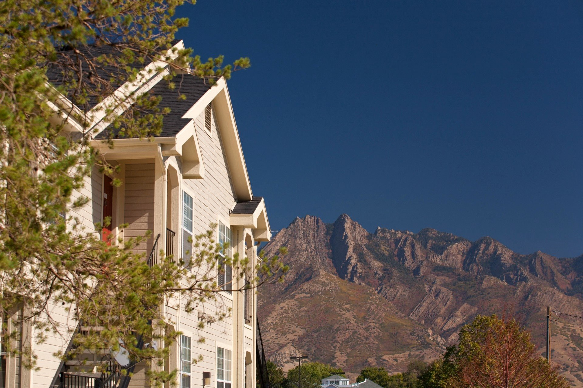 Building Exterior  with Mountains in the Background
