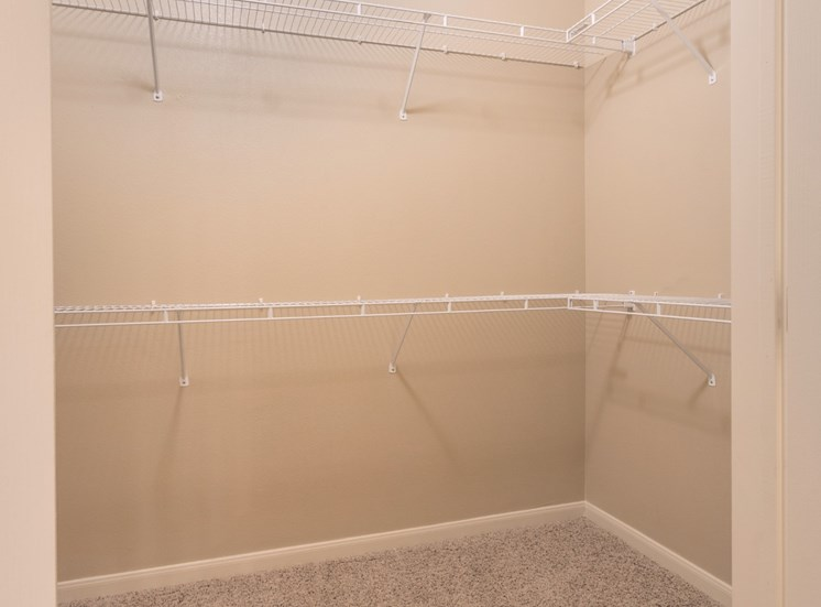 Spacious Closet with Wired Shelves