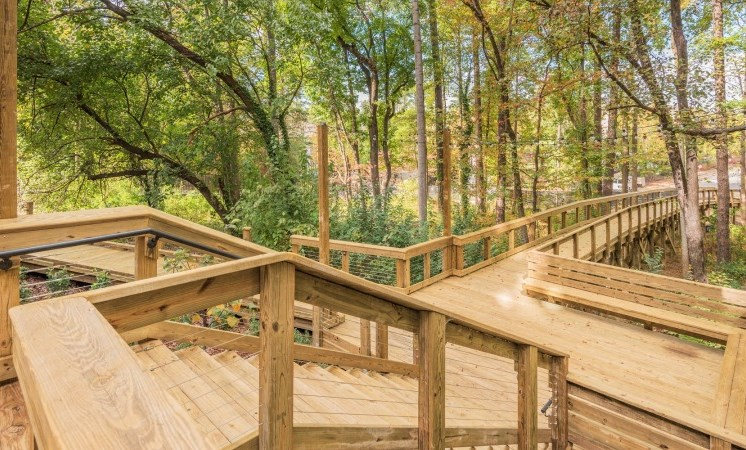 Deck Style Walkway Through Trees