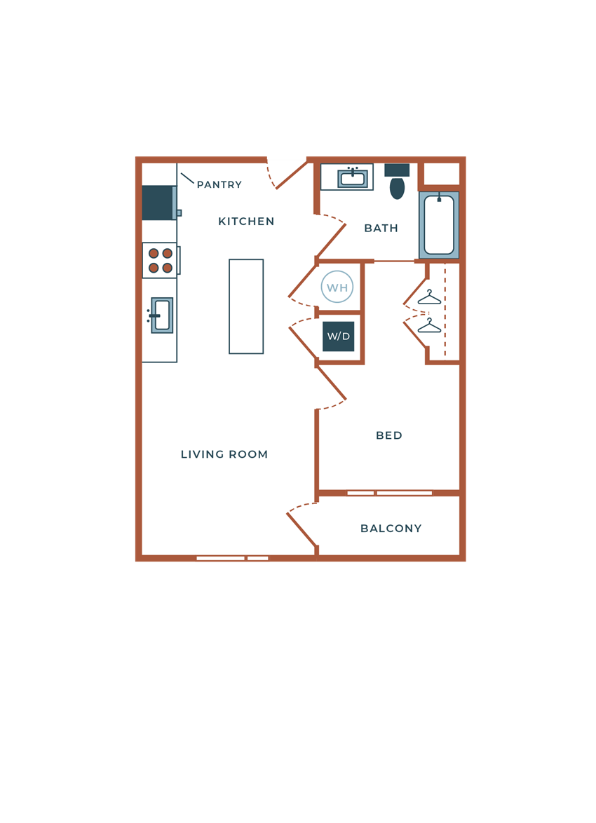 Legacy at Fitz A02B One Bedroom