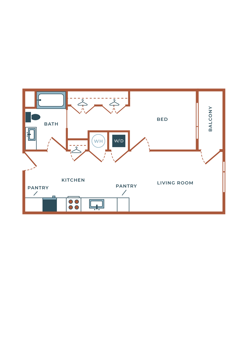 Legacy at Fitz A03B.1 One Bedroom with Study