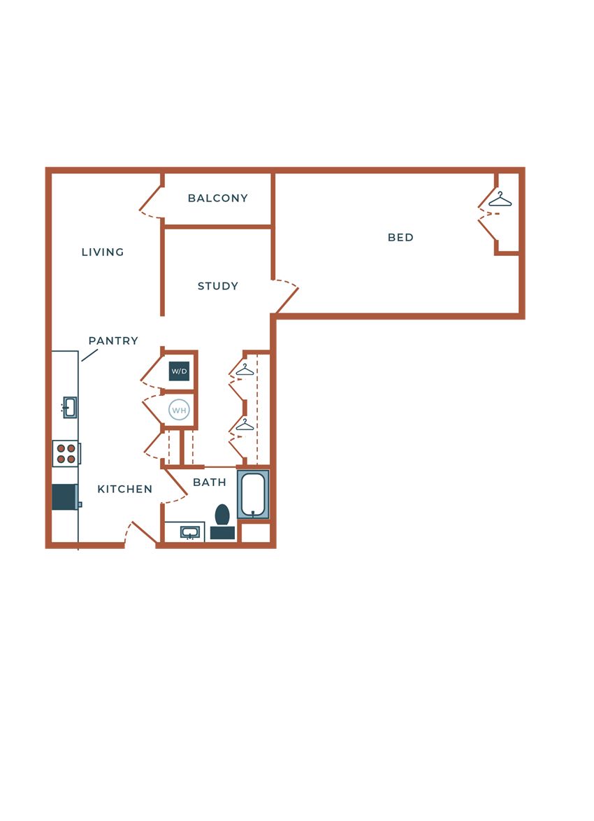 Legacy at Fitz A03B.2 One Bedroom with Study