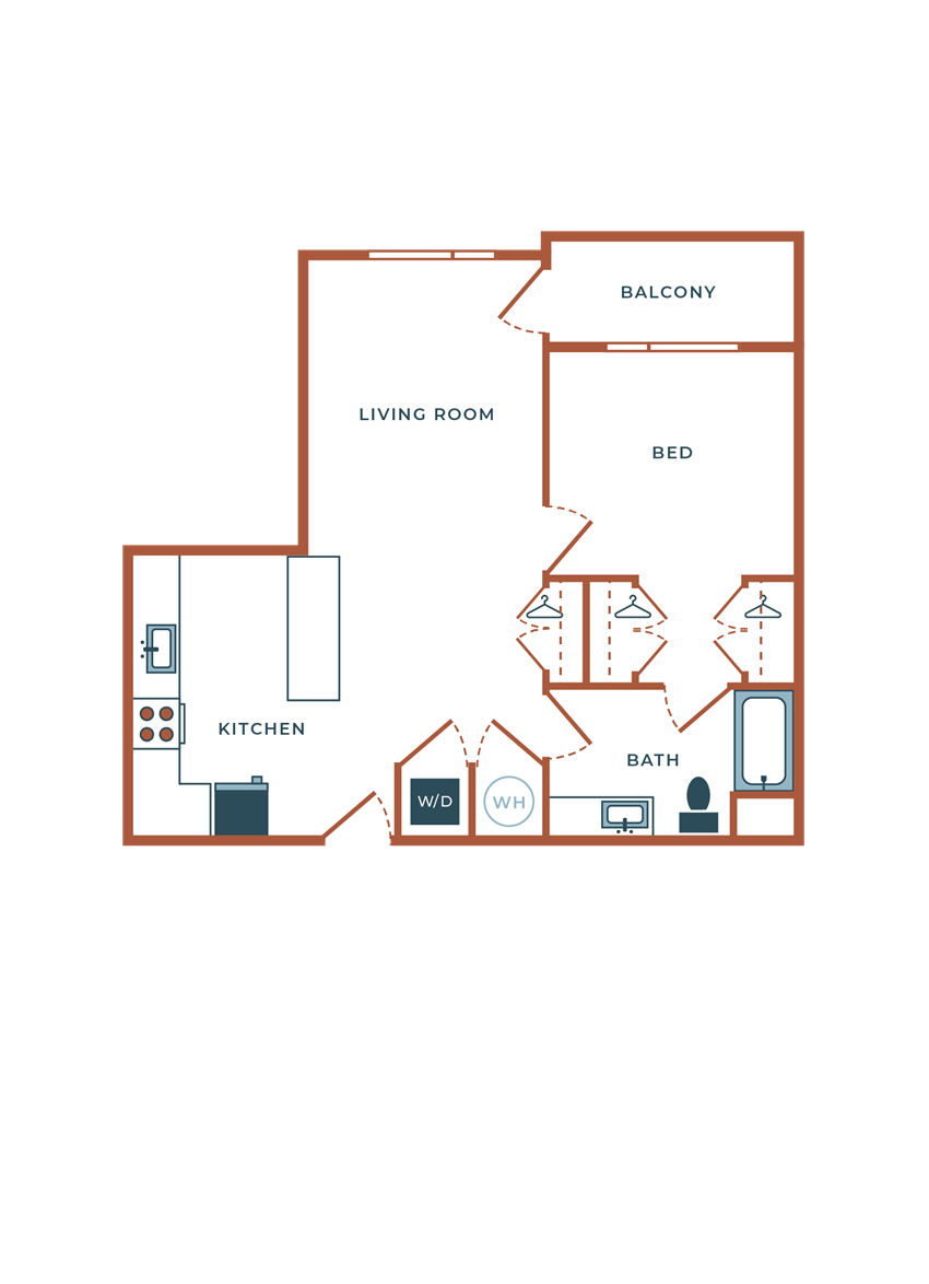 Legacy at Fitz A04B One Bedroom