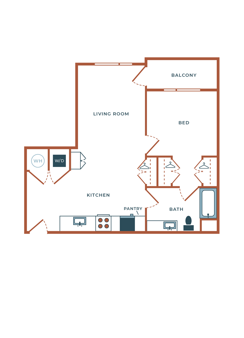 Legacy at Fitz A04B.1 One Bedroom