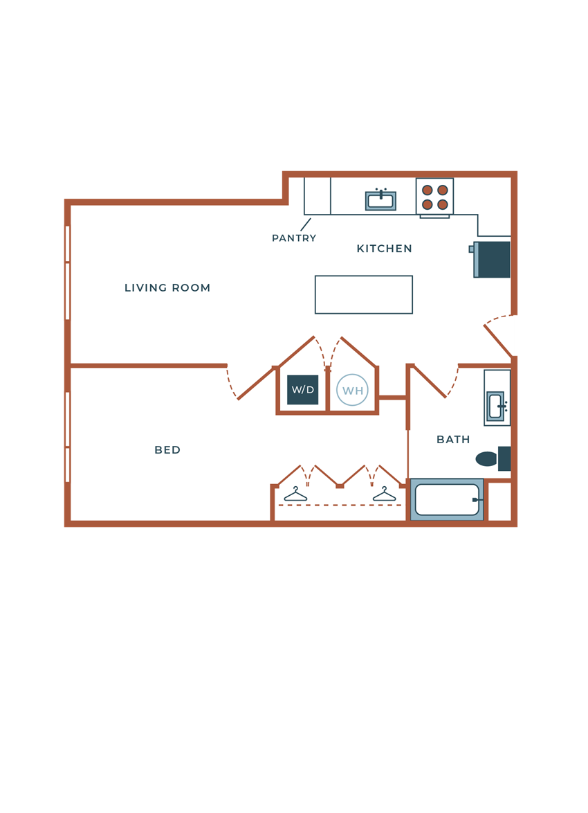 Legacy at Fitz A06B One Bedroom