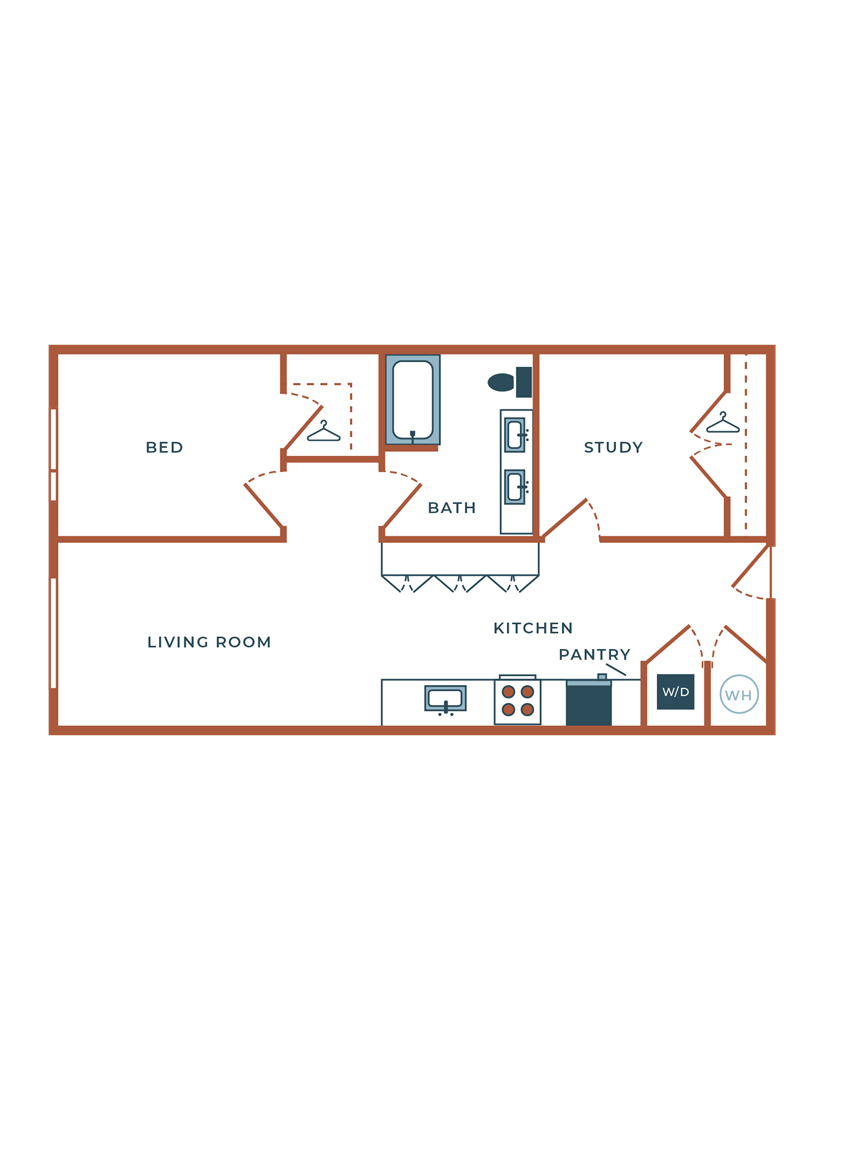 Legacy at Fitz B01B One Bedroom with Study