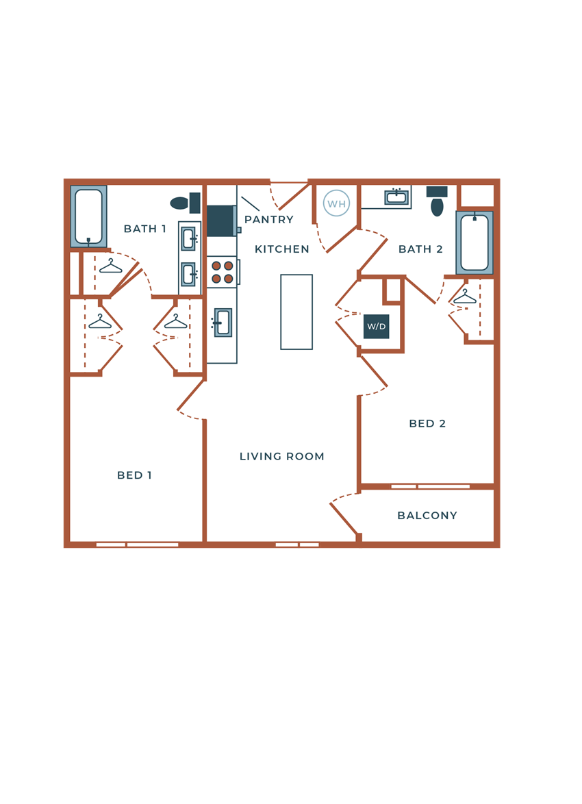 Legacy at Fitz B02A Two Bedroom