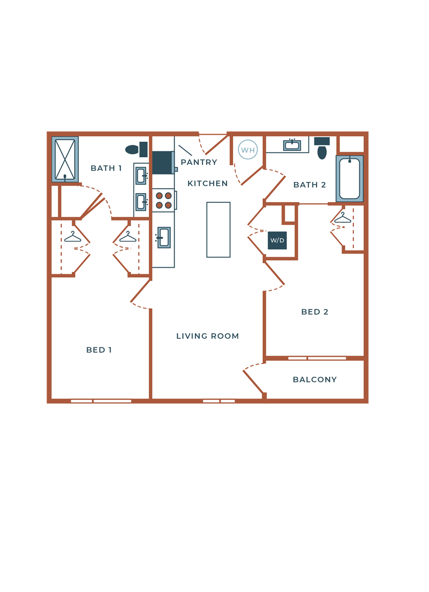 Legacy at Fitz B02B Two Bedroom
