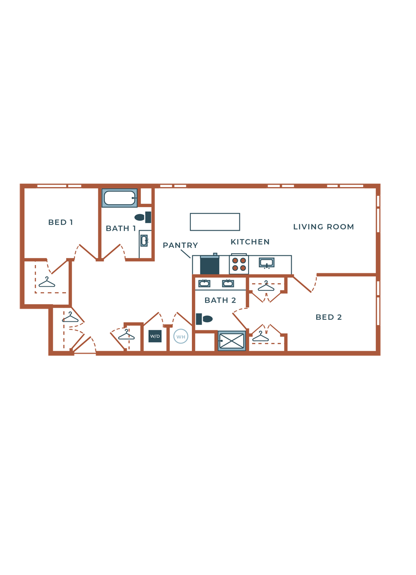 Legacy at Fitz B06B.1 Two Bedroom