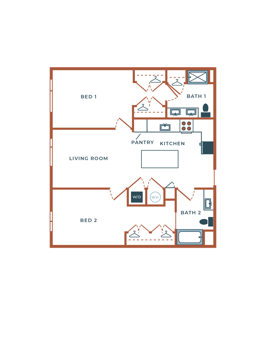 Legacy at Fitz B07B Two Bedroom