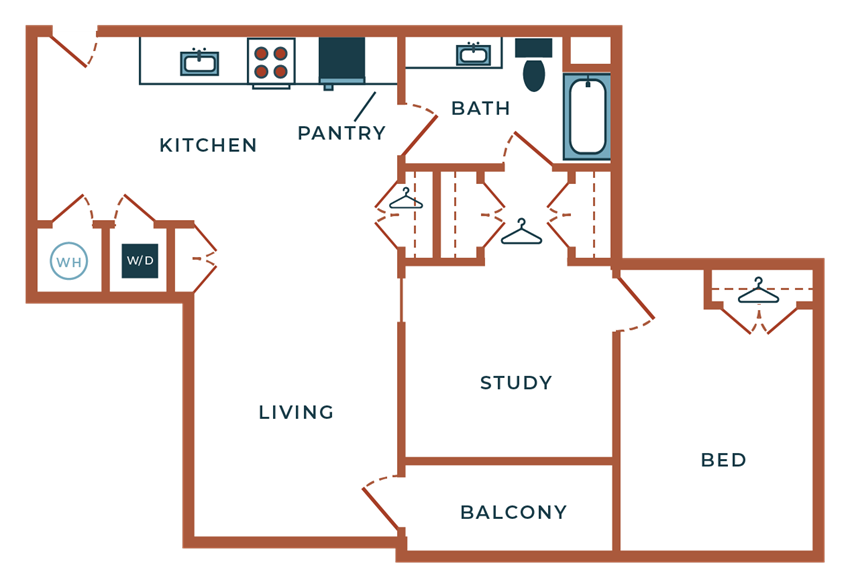 Legacy at Fitz A04B.2 One Bedroom with Study