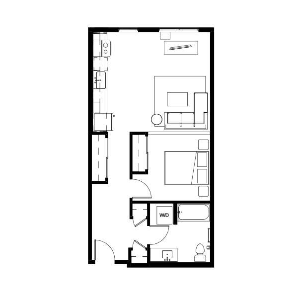 Nightingale One Bed 12 (ngha12) 651 SF 1A5