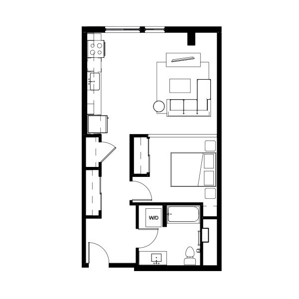 Nightingale One Bed 17 (ngha17) 702 SF 1A3