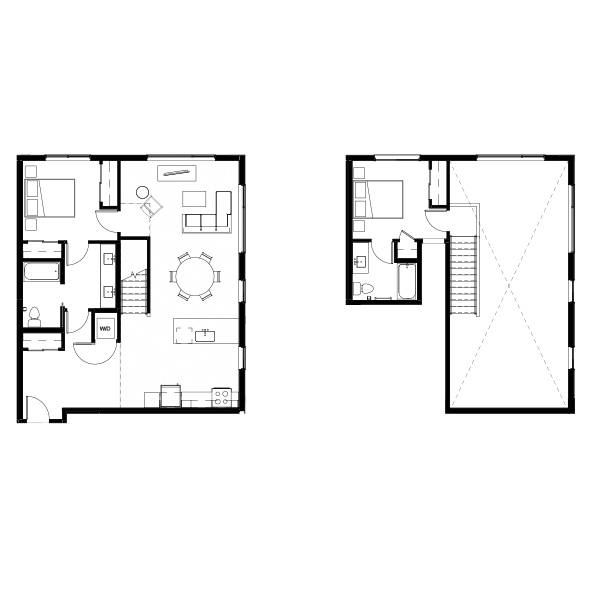 Nightingale Two Bed Penthouse 10 (nghb10) 1251 SF 2A