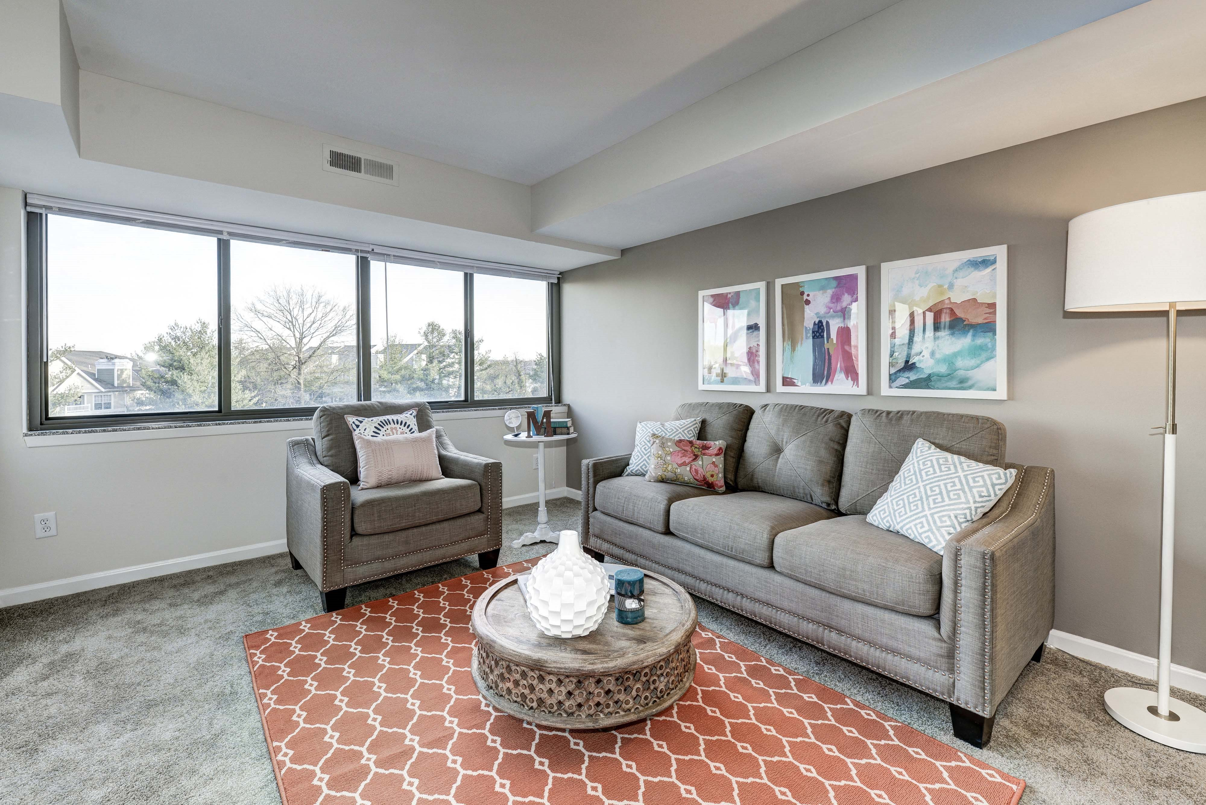 Gorgeous Living Room at The Mark Apartments, Virginia, 22304