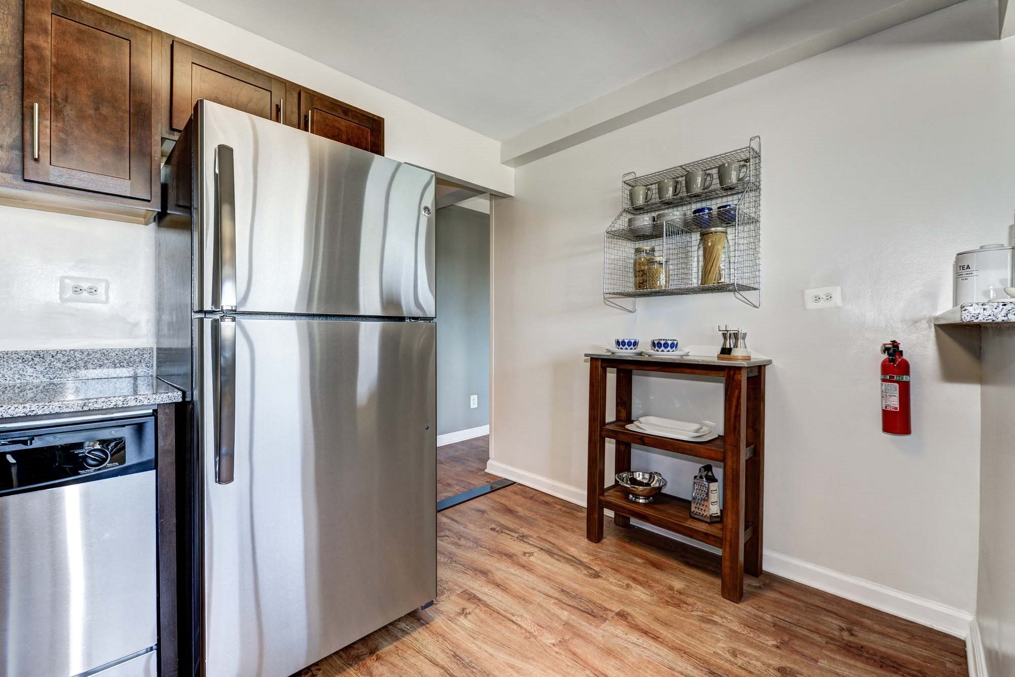 Kitchen With Stainless Steel Appliances at The Mark Apartments, Virginia, 22304