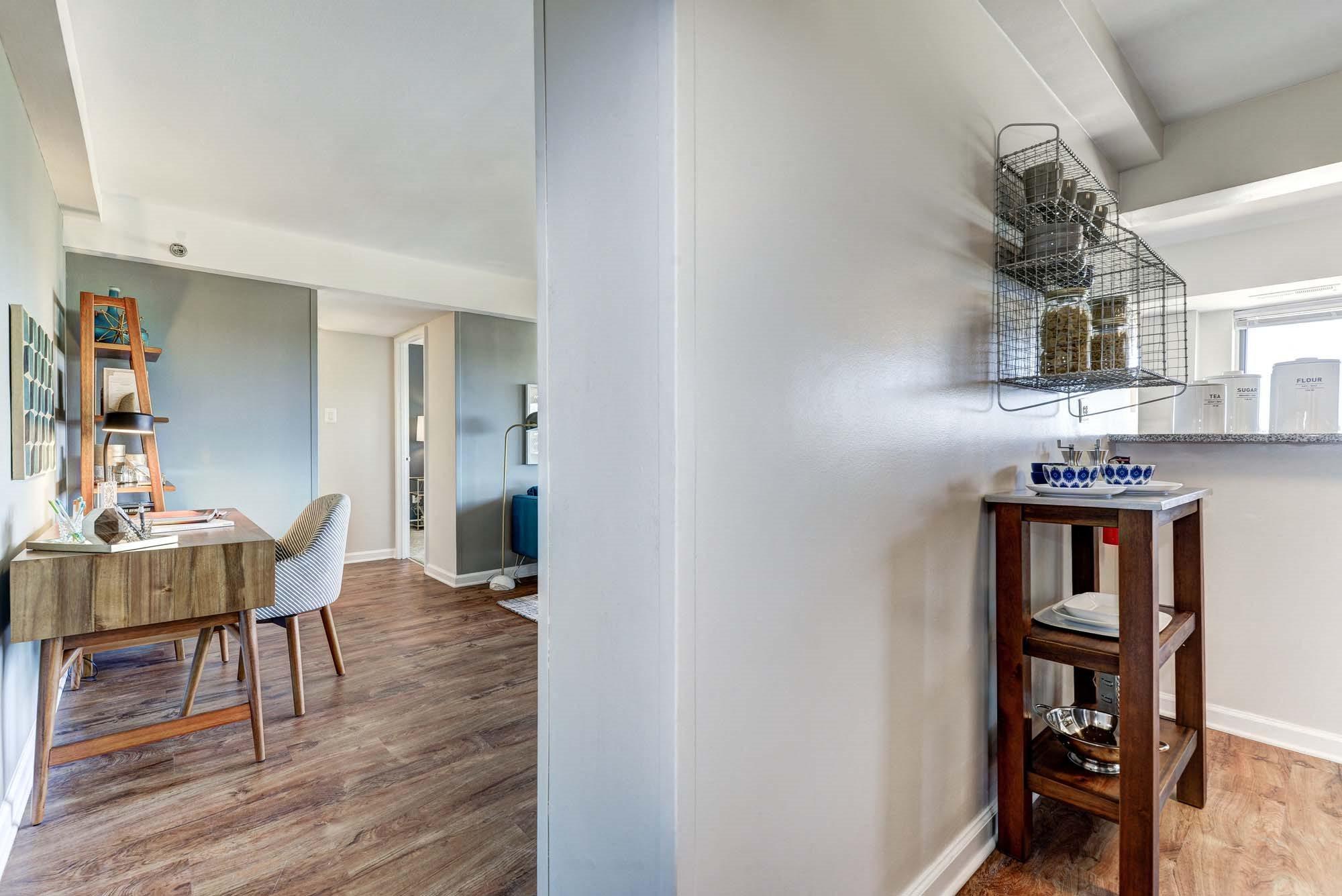Wood Floor Living Spaces at The Mark Apartments, Alexandria, VA, 22304