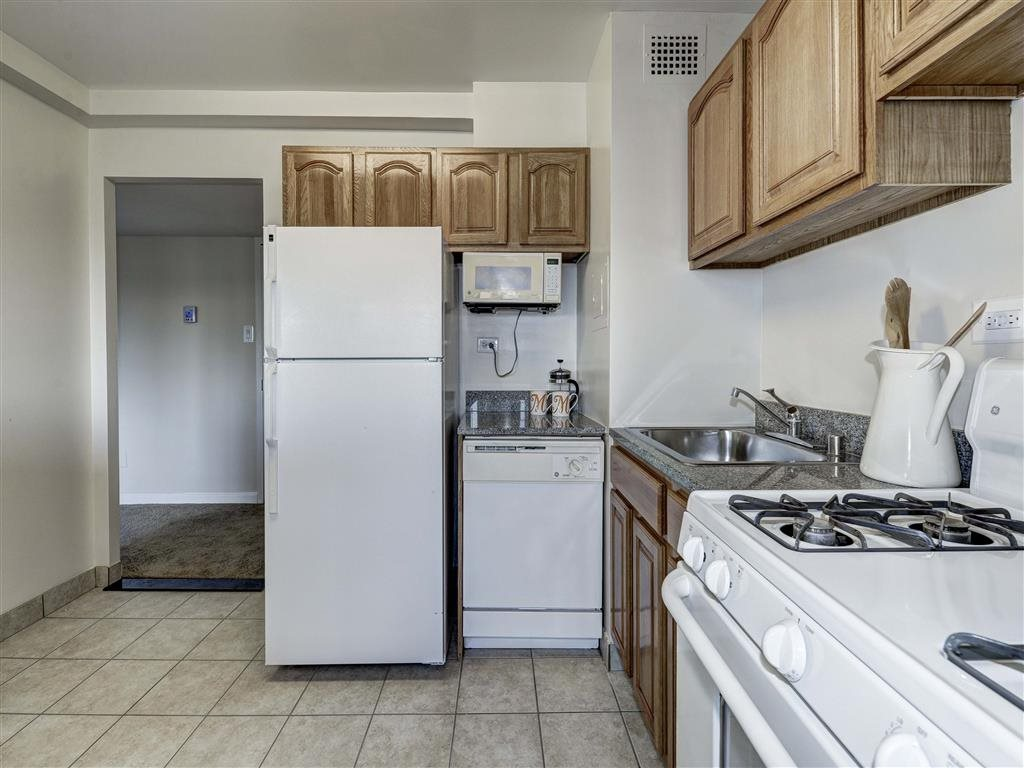Fully Equipped Kitchen at The Mark Apartments, Alexandria, Virginia