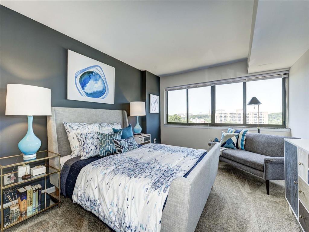 Apartment Master Bedroom at The Mark Apartments, Alexandria, 22304