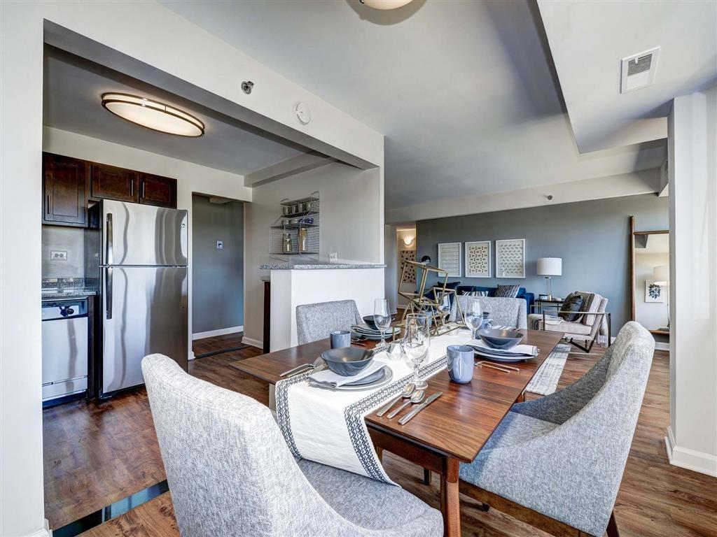 Impressive Dining Area at The Mark Apartments, Alexandria, 22304
